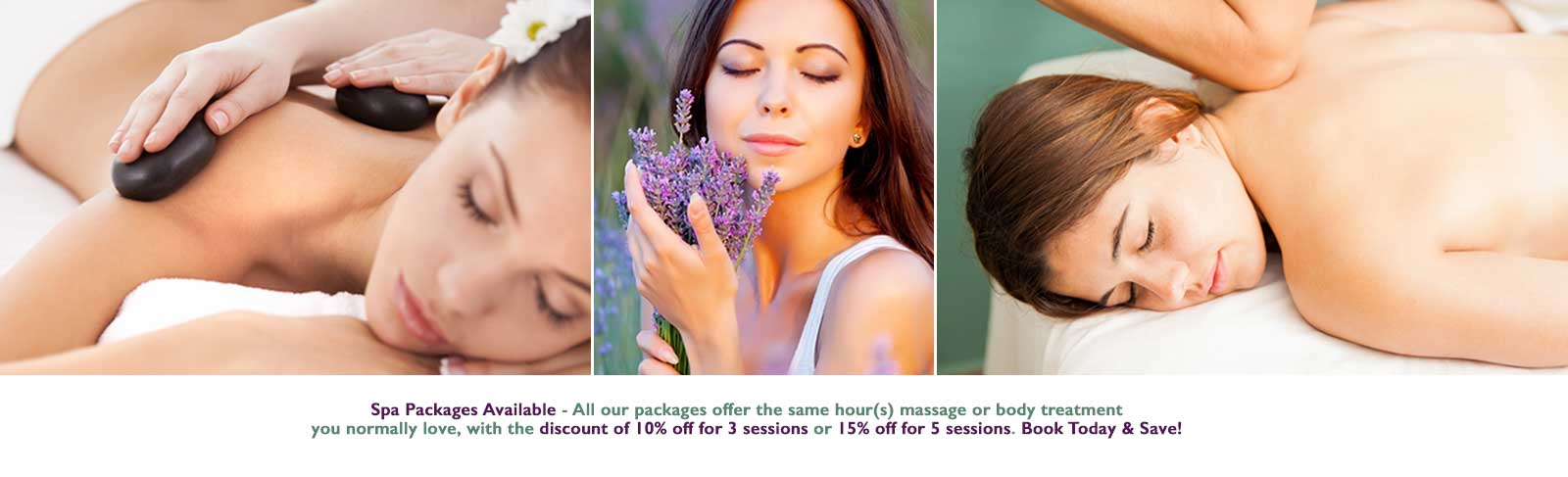 To make our massages and our most popular body treatments an even more affordable luxury, we happily introduce our spa packages with the discount of 20% off for 3 sessions or 25% off for 5 sessions!