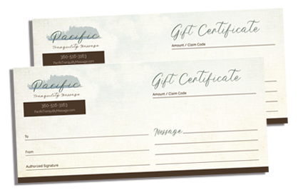 Support Local Business Pacific Tranquility Massage. Purchase Your Massage Gift Certificate here